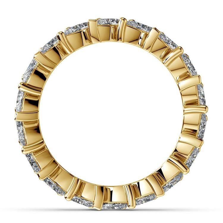 Luxury Unusual Marquise Diamond Eternity Band In Yellow Gold | 03
