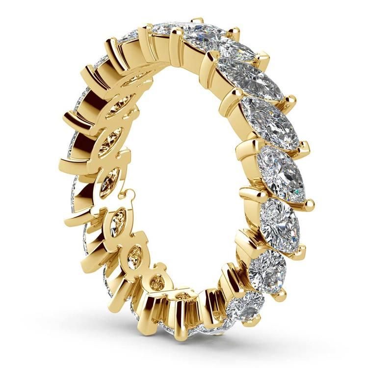 Luxury Unusual Marquise Diamond Eternity Band In Yellow Gold | 04
