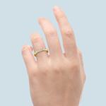 Five Diamond Wedding Ring in Yellow Gold (1 1/2 ctw) | Thumbnail 05