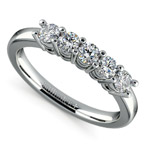 Five Diamond Wedding Ring in Platinum (1/2 ctw) | Thumbnail 01