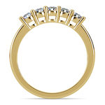 Five Diamond Wedding Ring in Yellow Gold (1/2 ctw) | Thumbnail 03
