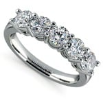 Five Diamond Wedding Ring in White Gold (1 1/2 ctw) | Thumbnail 01