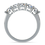 Five Diamond Wedding Ring in White Gold (1 1/2 ctw) | Thumbnail 03