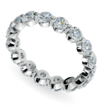 Floating Diamond Eternity Ring in White Gold (2 1/2 ctw) | Thumbnail 01
