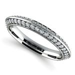 Knife Edge Diamond Wedding Ring in Platinum (1/2 ctw) | Thumbnail 01