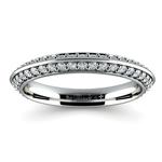 Knife Edge Diamond Wedding Ring in Platinum (1/2 ctw) | Thumbnail 02