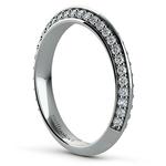 Knife Edge Diamond Wedding Ring in Platinum (1/2 ctw) | Thumbnail 04