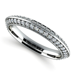 Knife Edge Diamond Wedding Ring in White Gold (1/2 ctw) | Thumbnail 01