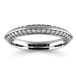 Knife Edge Diamond Wedding Ring in White Gold (1/2 ctw) | Thumbnail 02
