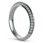Knife Edge Diamond Wedding Ring in White Gold (1/2 ctw) | Thumbnail 04