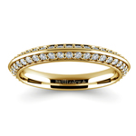 Knife Edge Diamond Wedding Ring in Yellow Gold (1/2 ctw) | Thumbnail 02