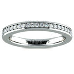Pave Diamond Eternity Ring in Platinum (1/2 ctw) | Thumbnail 02