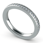 Pave Diamond Eternity Ring in White Gold (1/2 ctw) | Thumbnail 01