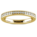 Pave Diamond Eternity Ring in Yellow Gold (1/2 ctw) | Thumbnail 02