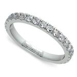 Petite Pave Diamond Wedding Ring in Palladium | Thumbnail 01