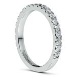 Petite Pave Diamond Wedding Ring in Palladium | Thumbnail 05