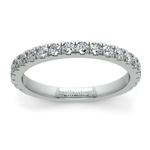 Petite Pave Diamond Wedding Ring in Platinum | Thumbnail 02