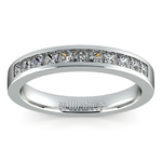 Princess Channel Diamond Wedding Ring in White Gold (1/2 ctw) | Thumbnail 02