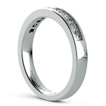 Princess Channel Diamond Wedding Ring in White Gold (1/2 ctw) | Thumbnail 04