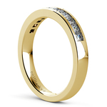 Princess Channel Diamond Wedding Ring in Yellow Gold (1/2 ctw) | Thumbnail 04