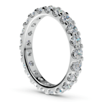 Scallop Diamond Eternity Ring in Platinum (1 1/2 ctw) | Thumbnail 04