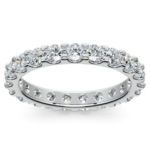 Scallop Diamond Eternity Ring in White Gold (1 1/2 ctw) | Thumbnail 02