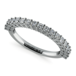 Shared Prong Diamond Wedding Ring in White Gold  | Thumbnail 01