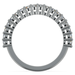 Shared Prong Diamond Wedding Ring in White Gold  | Thumbnail 03