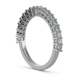 Shared Prong Diamond Wedding Ring in White Gold  | Thumbnail 04