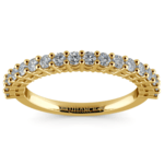 Shared Prong Diamond Wedding Ring in Yellow Gold | Thumbnail 02