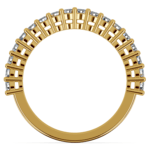 Shared Prong Diamond Wedding Ring in Yellow Gold | Thumbnail 03