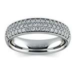 Three Row Pave Diamond Wedding Ring in Platinum | Thumbnail 02