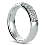 Three Row Pave Diamond Wedding Ring in Platinum | Thumbnail 04