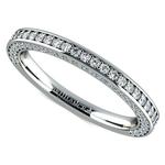 Three Sided Diamond Wedding Ring in White Gold (1/2 ctw) | Thumbnail 01