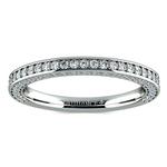 Three Sided Diamond Wedding Ring in White Gold (1/2 ctw) | Thumbnail 02