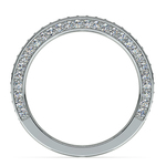 Three Sided Diamond Wedding Ring in White Gold (1/2 ctw) | Thumbnail 03