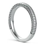 Three Sided Diamond Wedding Ring in White Gold (1/2 ctw) | Thumbnail 04