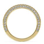 Three Sided Diamond Wedding Ring in Yellow Gold (1/2 ctw) | Thumbnail 03