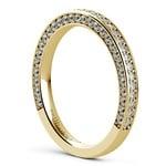 Three Sided Diamond Wedding Ring in Yellow Gold (1/2 ctw) | Thumbnail 04