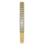 Three Sided Diamond Wedding Ring in Yellow Gold (1/2 ctw) | Thumbnail 05