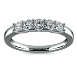 Trellis Five Diamond Wedding Ring in Platinum | Thumbnail 02