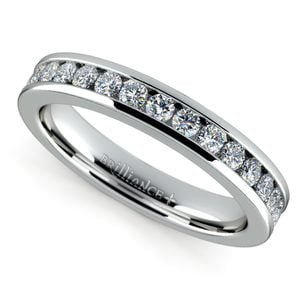 Channel Diamond Band in White Gold (1/2 ctw)