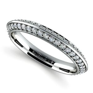 Knife Edge Diamond Wedding Ring in Platinum (1/2 ctw)