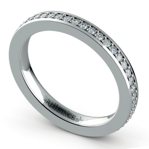 Pave Diamond Eternity Ring in White Gold (1/2 ctw)