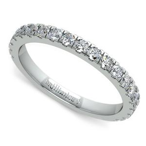 Petite Pave Diamond Wedding Ring in Platinum