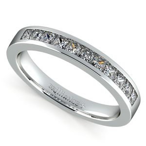 Princess Channel Diamond Wedding Ring in Platinum (1/2 ctw)