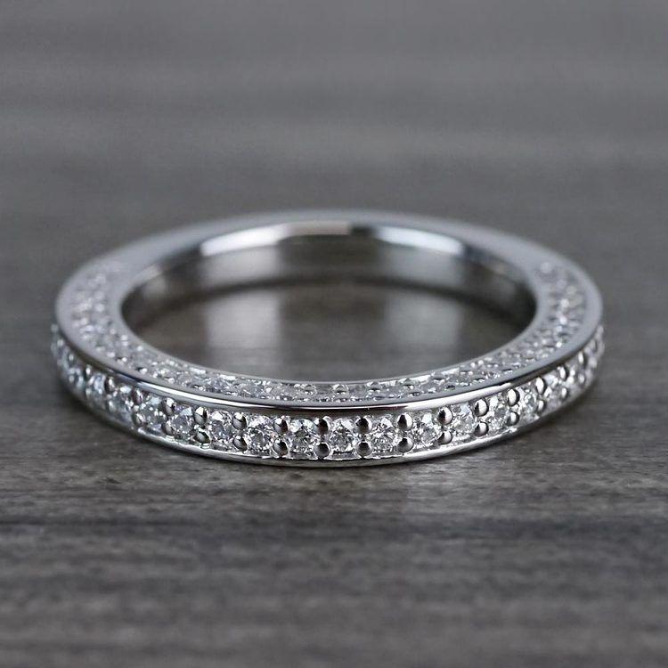 Three Sided Diamond Wedding Ring in Platinum (1/2 ctw) | 05