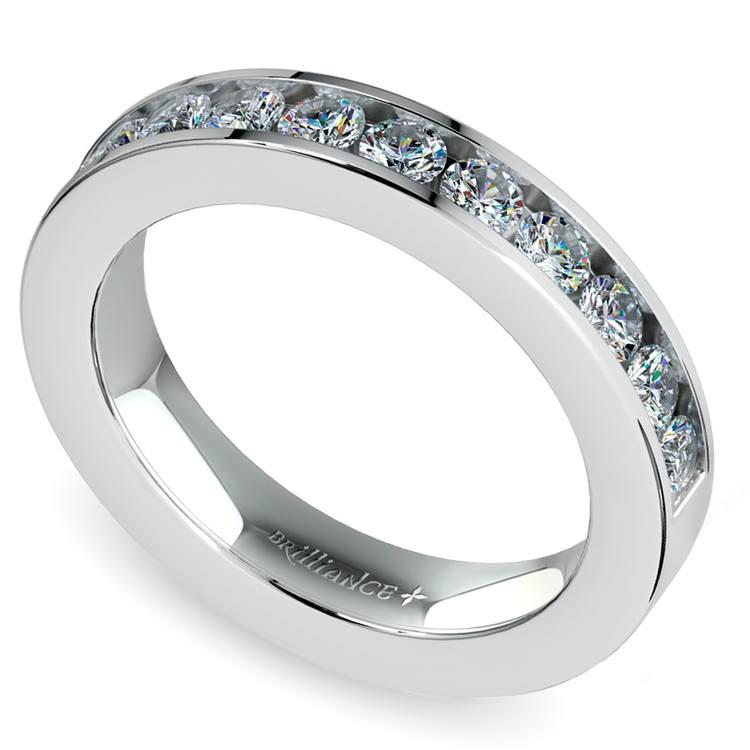 Channel Diamond Wedding Ring in Platinum (1/2 ctw) | 01