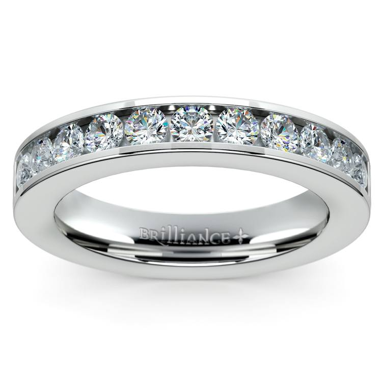 Channel Diamond Wedding Ring in White Gold (1/2 ctw) | 02
