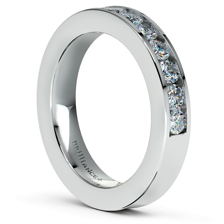 Channel Diamond Wedding Ring in White Gold (1/2 ctw) | 04